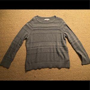 Grey LOFT Cable Knit Sweater Size L